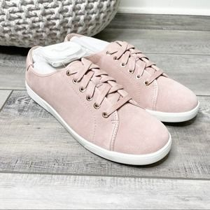 Vionic Brinley Suede Lace Up Sneakers Light Pink 9.5W